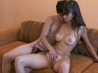 Young nymphet gets banged on her parents sofa