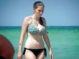 Candid Big Huge Tits In Bikiini At Beach LS2